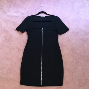 Zara Black Dress with Zipper